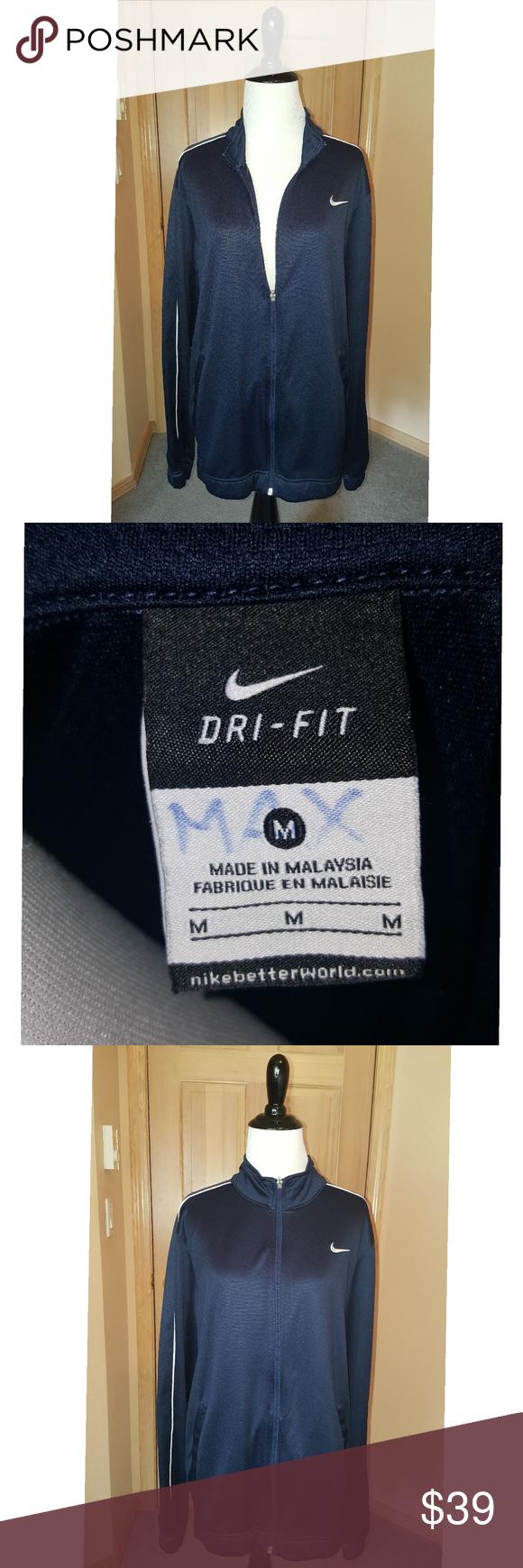 NIKE Men's Blue DRIFIT FullZip Jacket Great meshlooking