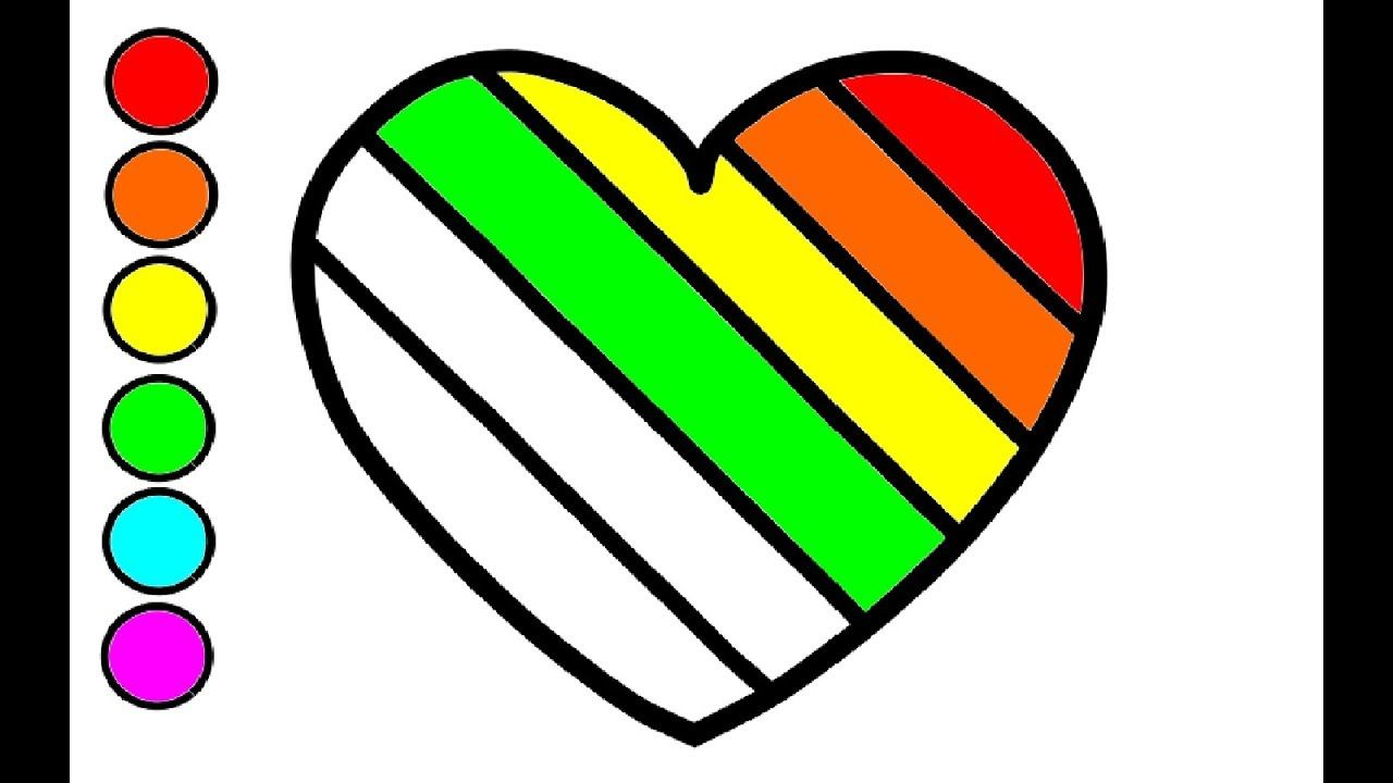 Wie Zeichnen Und Farben Regenbogen Herz Fur Kinder Regenbogen Herz Mal Regenbogen Herz Herz Malen Herz Zeichnen