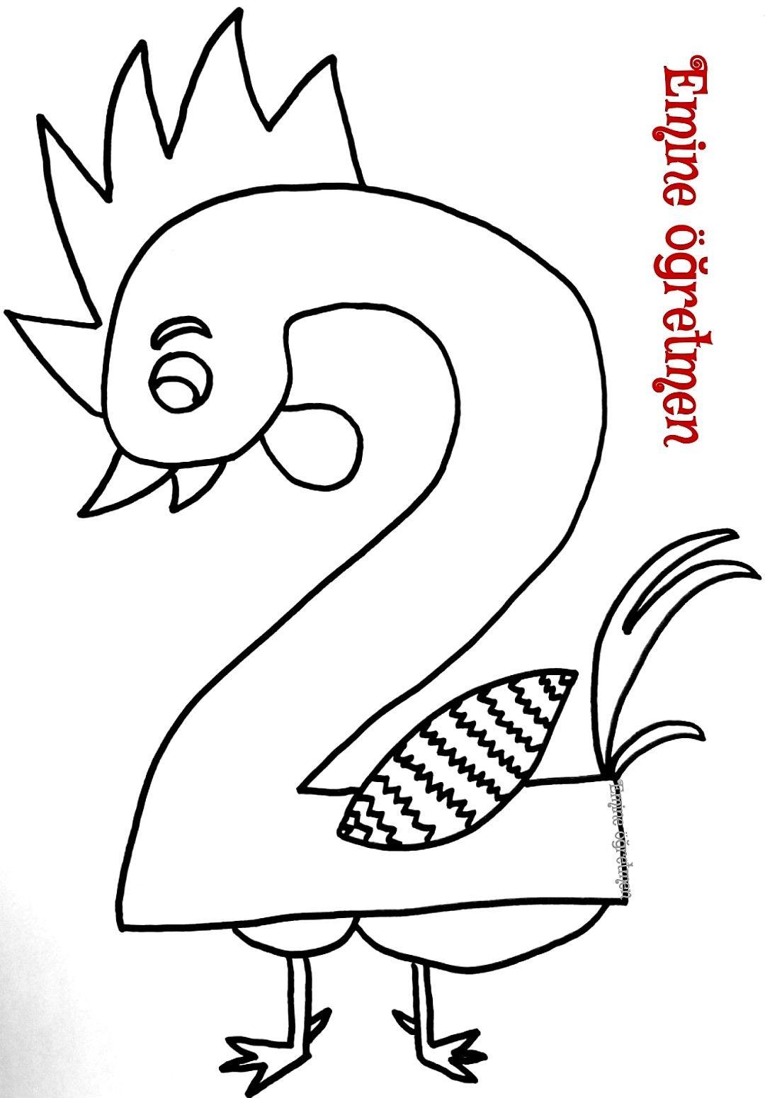 Emine Ogretmen 2 Rakamindan Horoz Kalibi Matematik Cocuklar