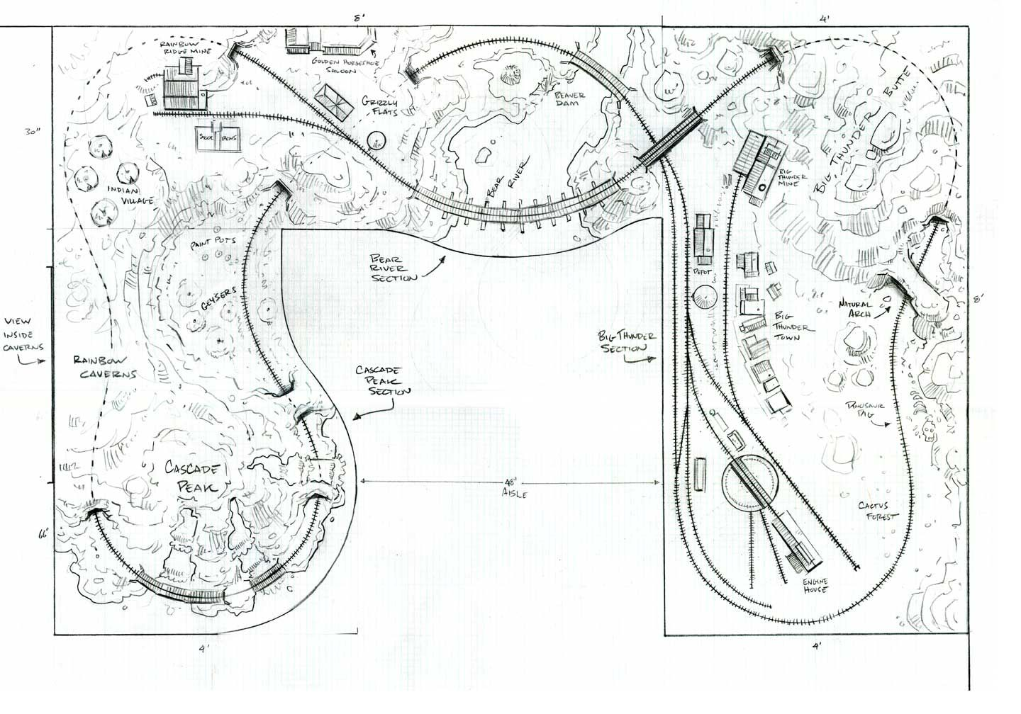 model railroad track plans