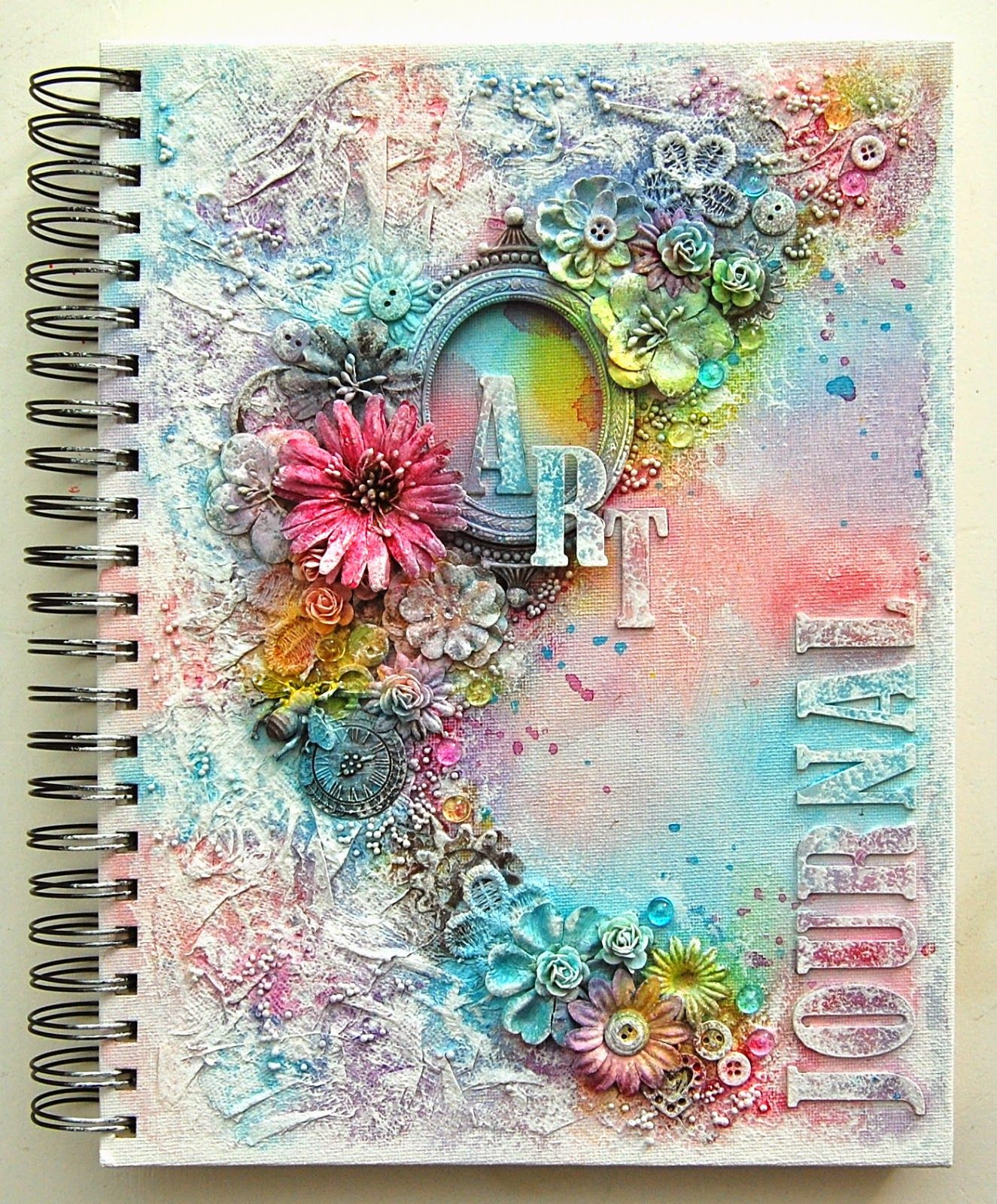 Art journal shimmerz paints journal paper towels and for Journal painting ideas