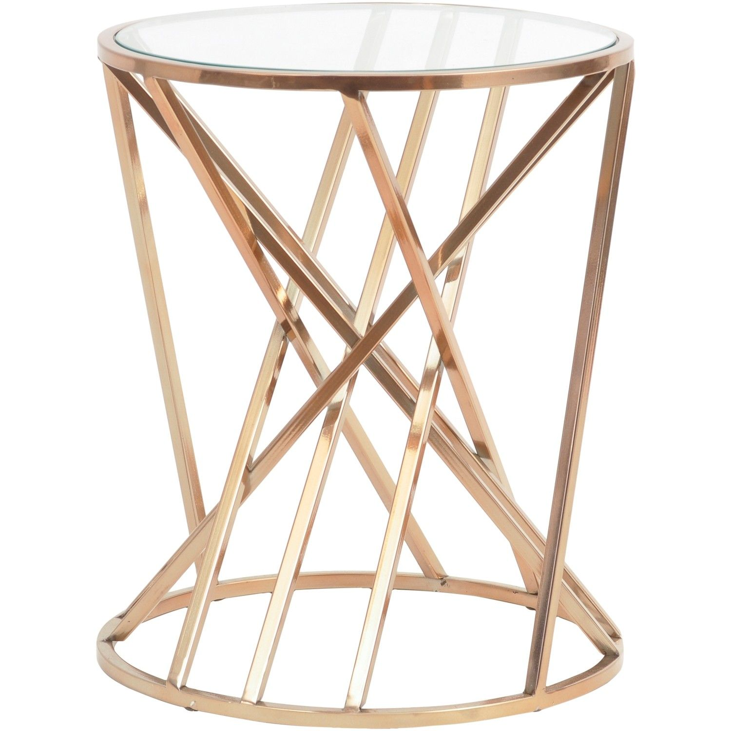 Gold Geometric Side Table From Sweetpea Willow Furniture  # Muebles Sutentables