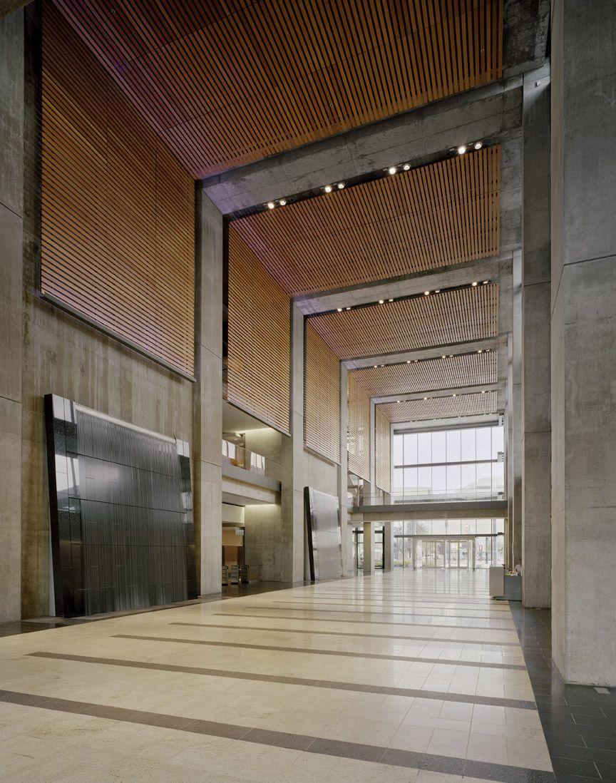 Manitoba Hydro Kpmb Architects False Ceiling Design Lobby