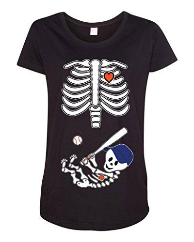 39f86f5ce29c5 Baby Skeleton New York Mets Baseball Maternity T-Shirt | Cool NY ...