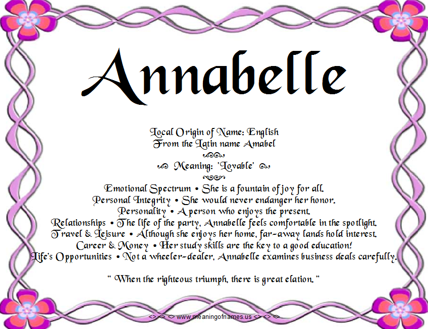 29++ Annabelle name meaning hebrew ideas in 2021