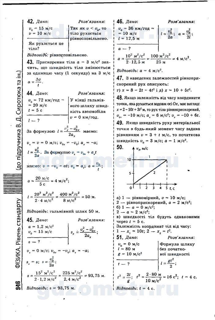 Гдз по физике 9 класс владимир сиротюк