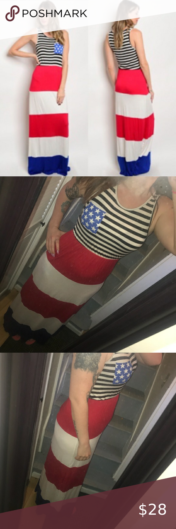 4th Of July Red White And Blue Maxi Dress Maxi Dress Blue Blue Maxi Royal Blue Maxi Dress [ 1740 x 580 Pixel ]