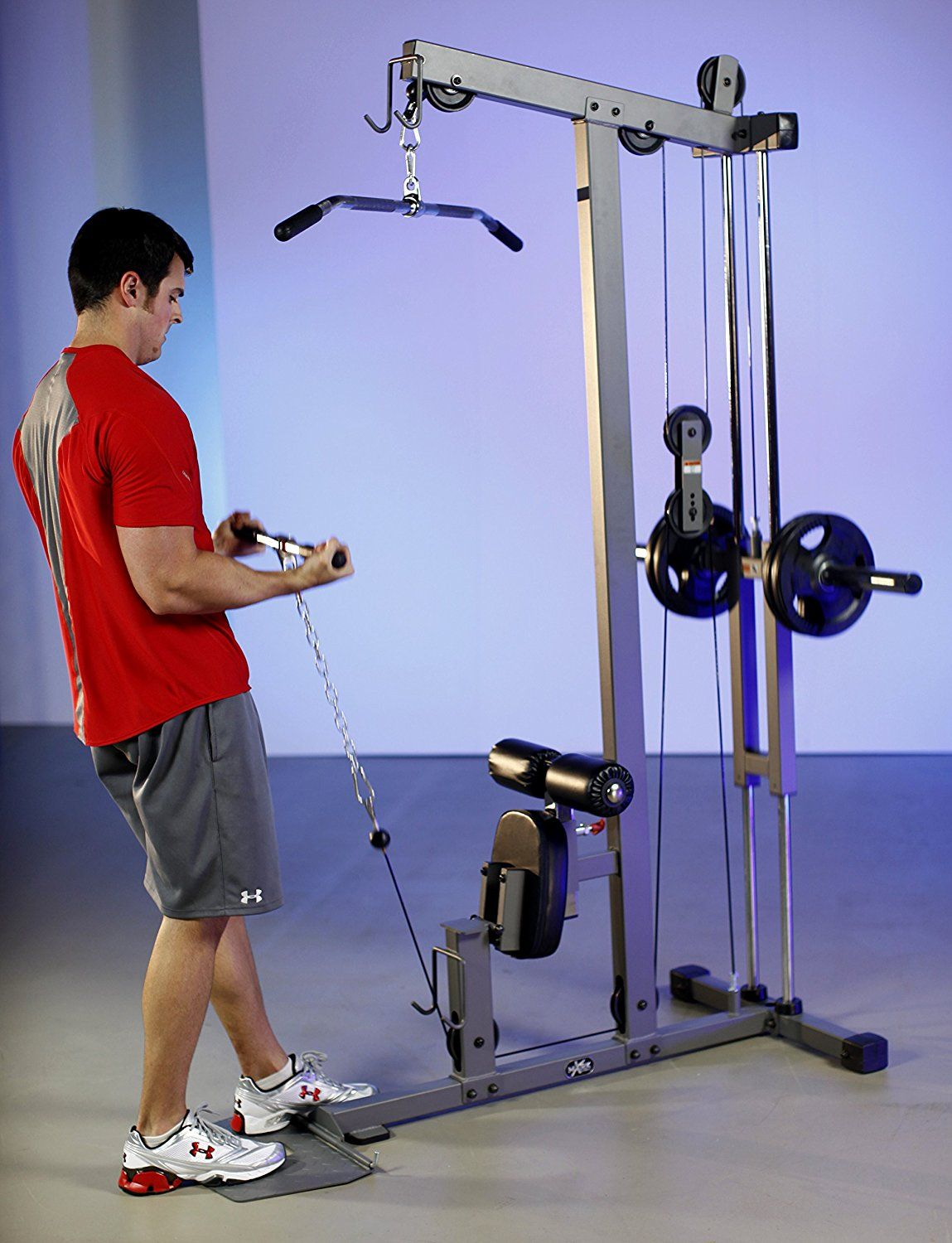 Xmark lat pulldown and low row cable machine xm exercise