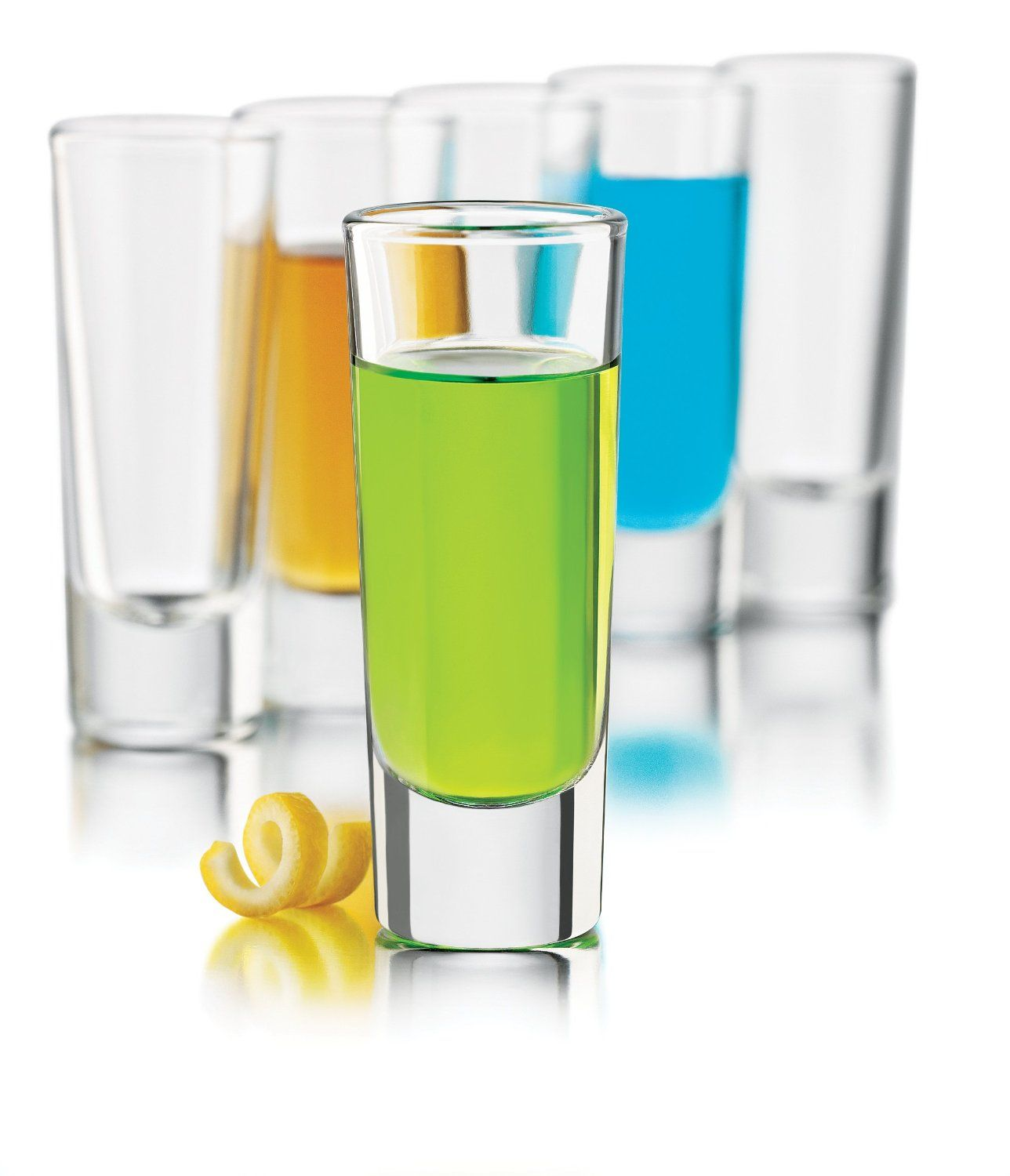 Amazon.com: Libbey 2-Ounce Clear Shooter Glass Set, 6-Piece: Shot Glasses: Kitchen & Dining