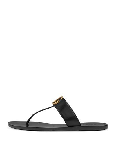 5e13ded3e X3WTN Gucci Marmont Flat Marmont Leather Thong   Summer Wear in 2019 ...