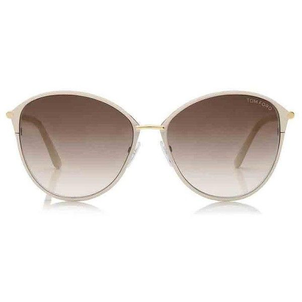 688c4497a337 Tom Ford White New Penelope Oversized Sunglasses Tradesy ($10) ❤ liked on  Polyvore featuring