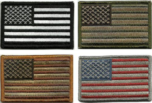 Bundle 4 Pieces Tactical Usa Flag Patches Multi Colored 0 American Flag Patch Flag Patches Velcro Patches
