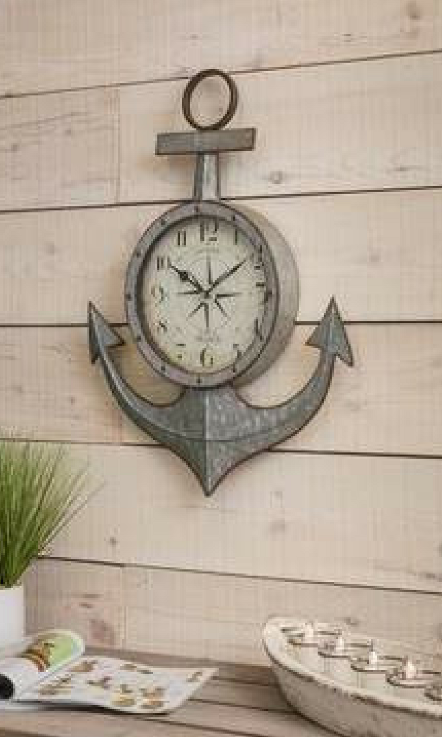 Perfect Pretty Cool Clock, Love The Galvanized Look For A Nautical Themed Room.  #rustic