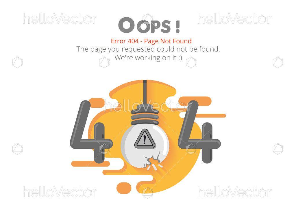 404 Error Page Template Vector Design Download Graphics Vectors Vector Design Error Page Page Template
