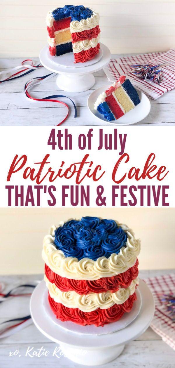 Red, White & Blue Rosette Cake   Recipe   Cake decorating ...