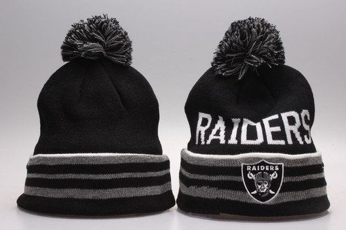 Oakland Raiders Winter Outdoor Sports Warm Knit Beanie Hat Pom Pom ... 68b74d9a29d