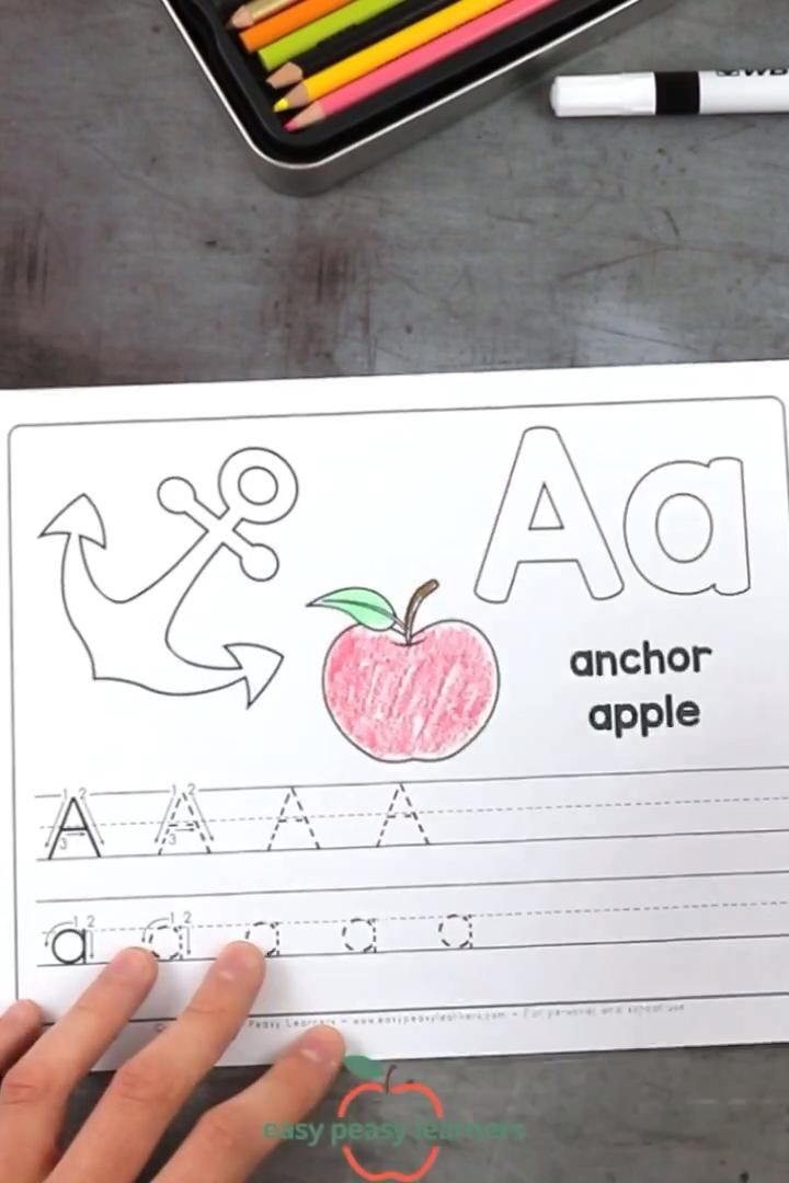 Free Printable Alphabet Book - Alphabet Worksheets for Pre-K and K - Easy Peasy Learners