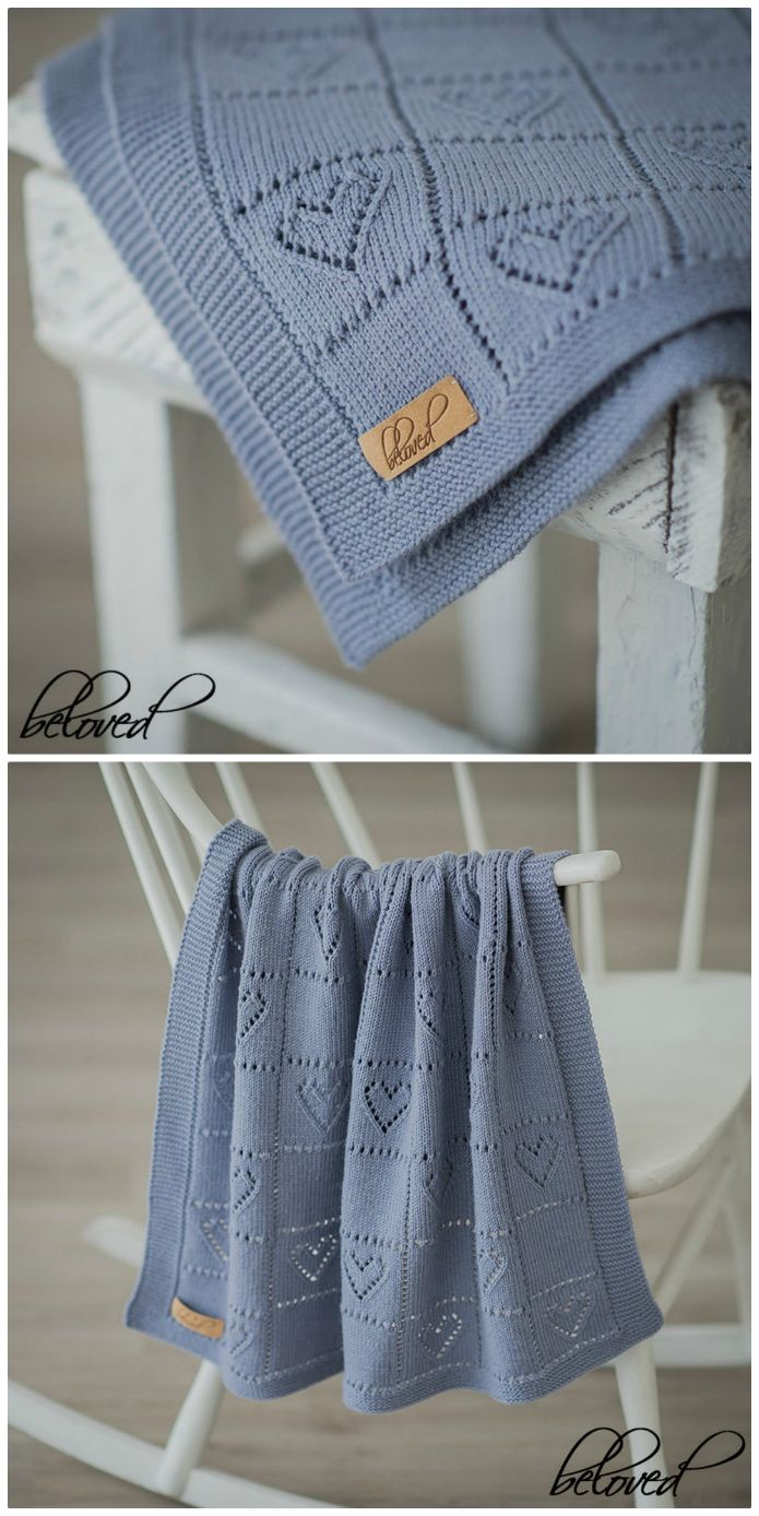 Lace Heart Baby Blanket Is Perfect For A Newborn | The WHOot #babyblanket