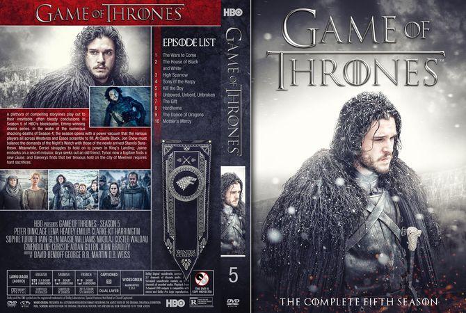 Game Of Thrones - Season 5 DVD Custom Cover