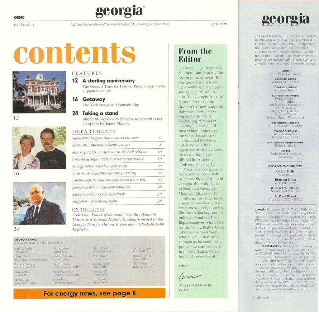Ga Mag ContentsXJpg   Credits Page