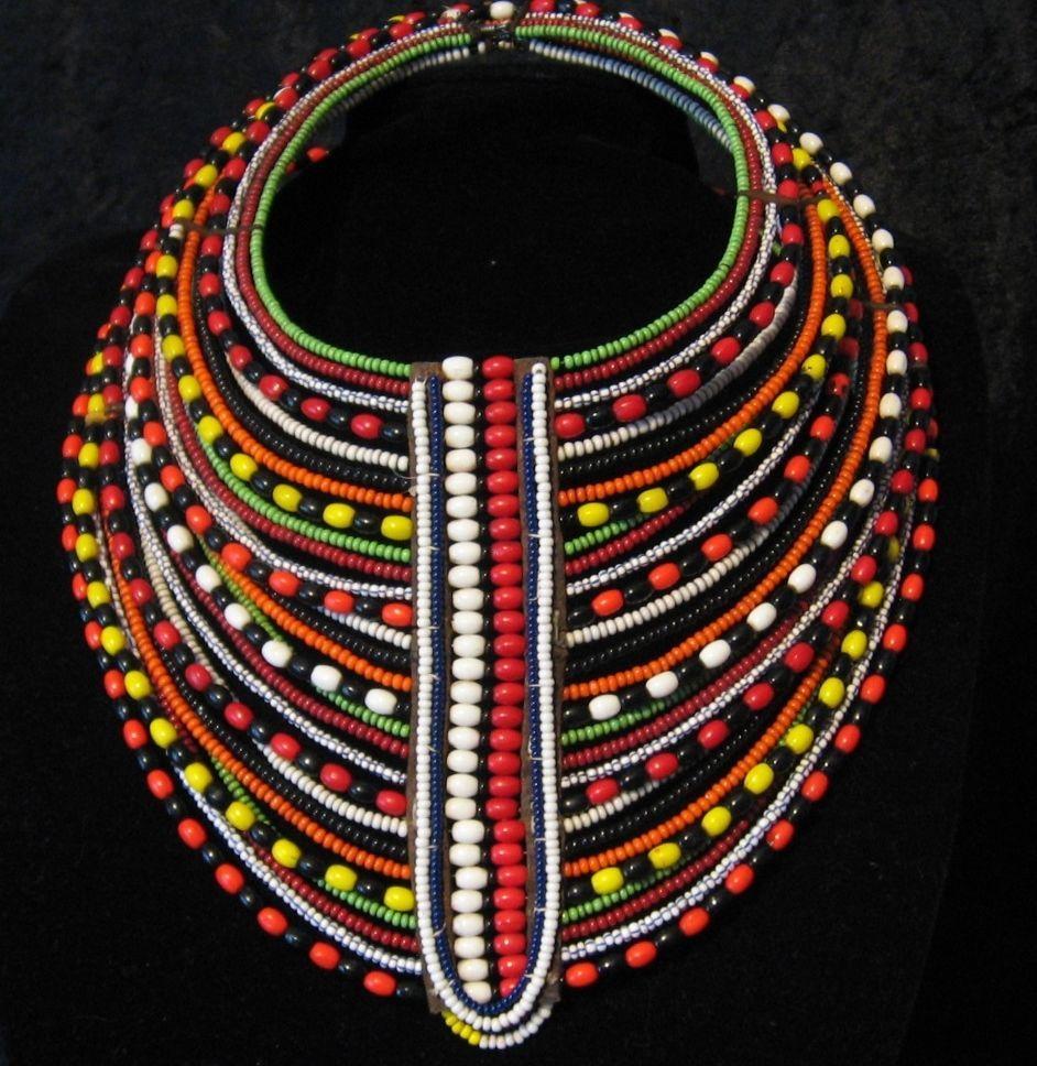 African Maasai Tribal Layered Necklace Masai Mara Kenya Masai Jewelry Maasai Layered Necklaces