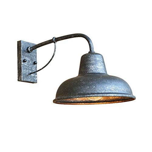 Retro Wall Sconce Lighting Gooseneck Iron Nostalgic American Simple Exterior Wall Door Light Garden Outdoor Waterproof Balcony Garden Lights (Color  B) is part of garden Lighting Wall - @ industrial booseneck barn wall sconce, made of high quality metal with matte finish  perfectly matches industrial vintage style decoration  @ Voltage110240V for North America  E27 Base  Bulb NOT Included  Bulb types available include LED, CFL, incandescent  Meet the standard fixture requirements  @ Installation type hardwired  Easy installation  Indoor and outdoor light fixture