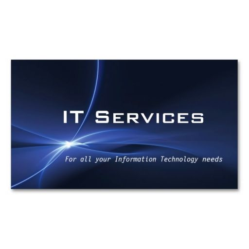 Information Technology Services Business Card Zazzle Com Information Technology Services Information Technology Services Business