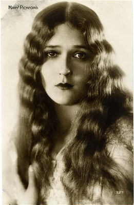 Mary Pickford 1920s Hair Style For Long Hair