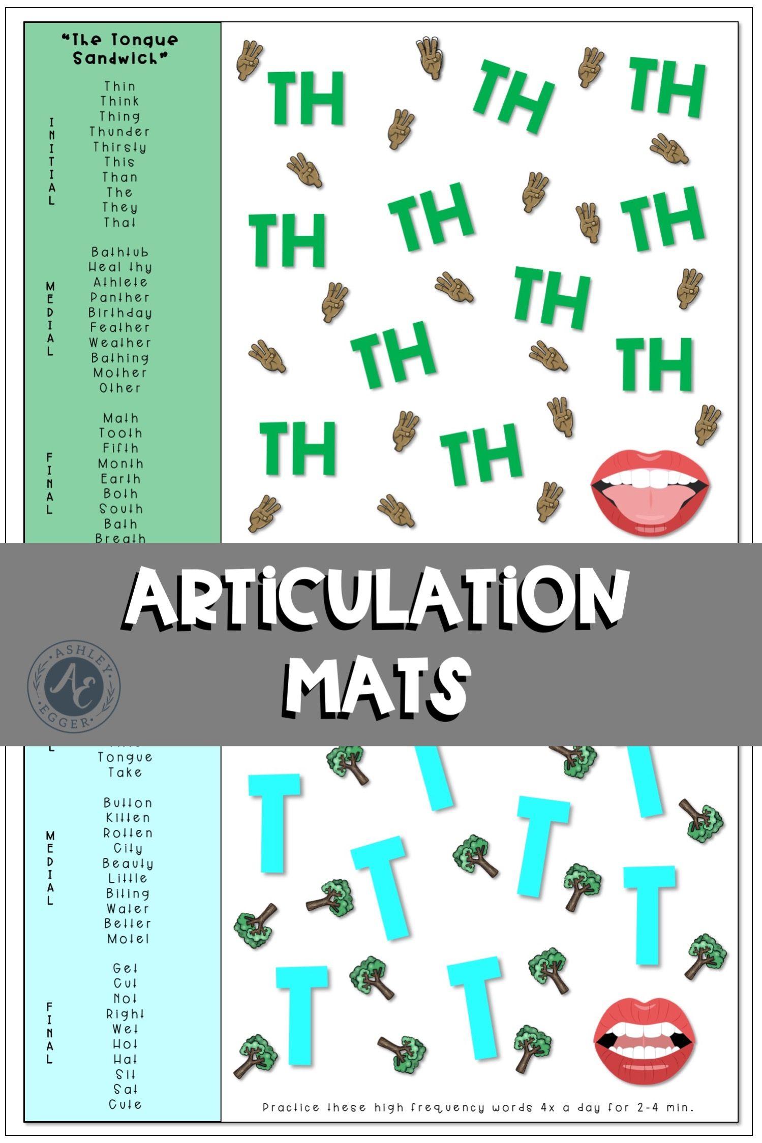 Articulation Worksheets 23 Speech Sounds And Handouts