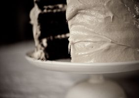 chocolate-cake with salted caramel frosting