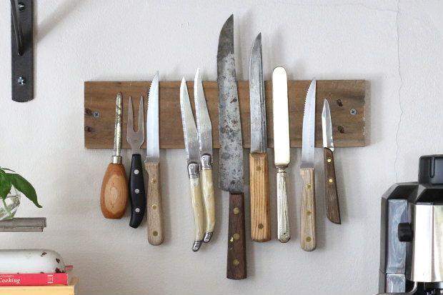 How To Magnetic Knife Rack Ehow Mit Bildern Diy Holzwand