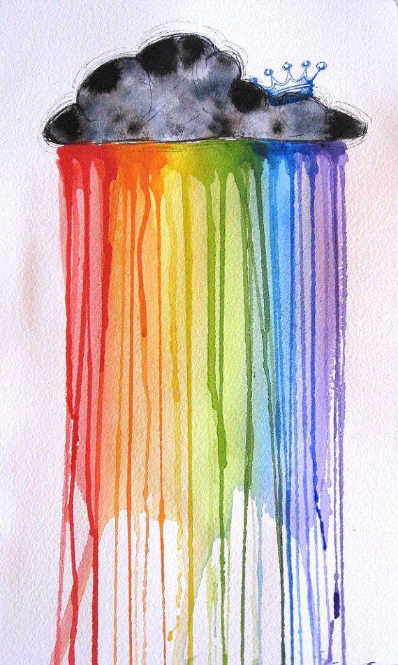 Regenbogen Watercolor Google Suche Bunte Kunst Wachsmalkunst