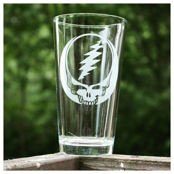 Grateful Dead Steal Your Face Etched Pint Glass https://www.etsy.com/listing/234965831/shipping-included-grateful-dead-steal