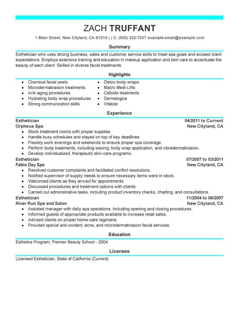 Cover Letter For Medical Esthetician Esthetician Resume Cover Letter For Resume Esthetician