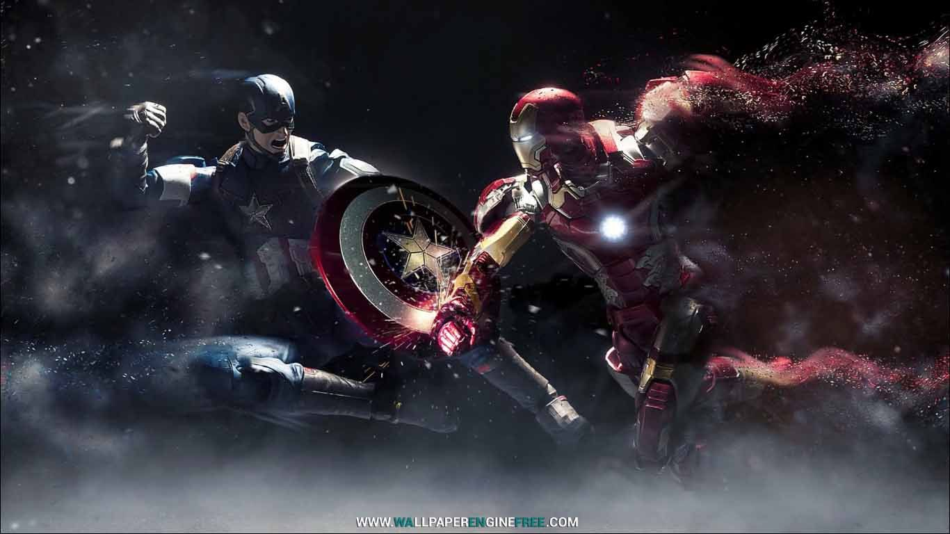 Captain America Vs Iron Man 1080p Wallpaper Engine Iron Man Wallpaper Iron Man Hd Wallpaper Captain America Wallpaper