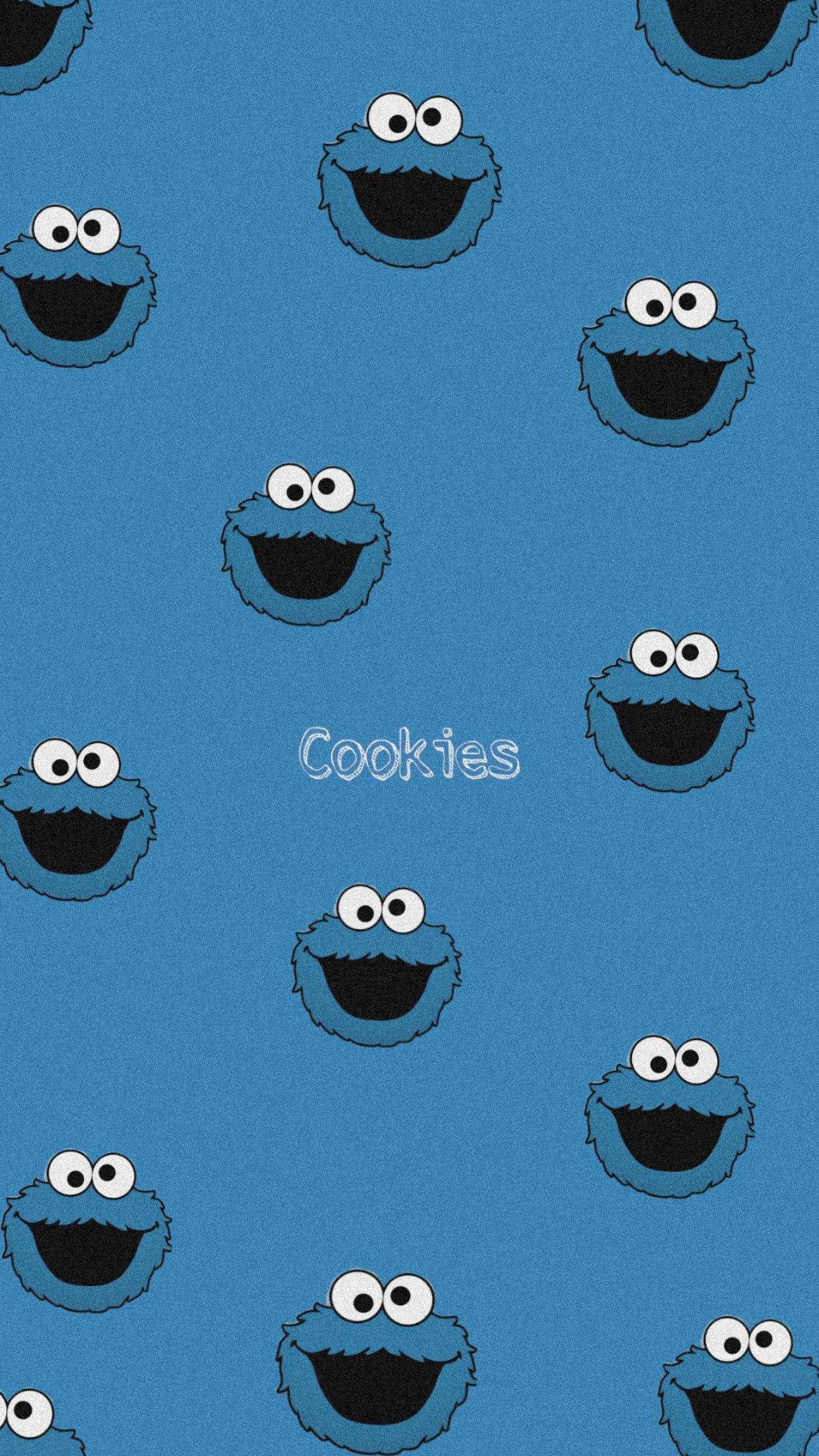 Wallpaper Fondo De Pantalla Cookie Monster Boneka Hewan Gambar Animasi Kartun Kartun