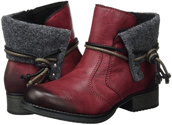 Rieker Damen Y9791 Kurzschaft Stiefel: : Schuhe