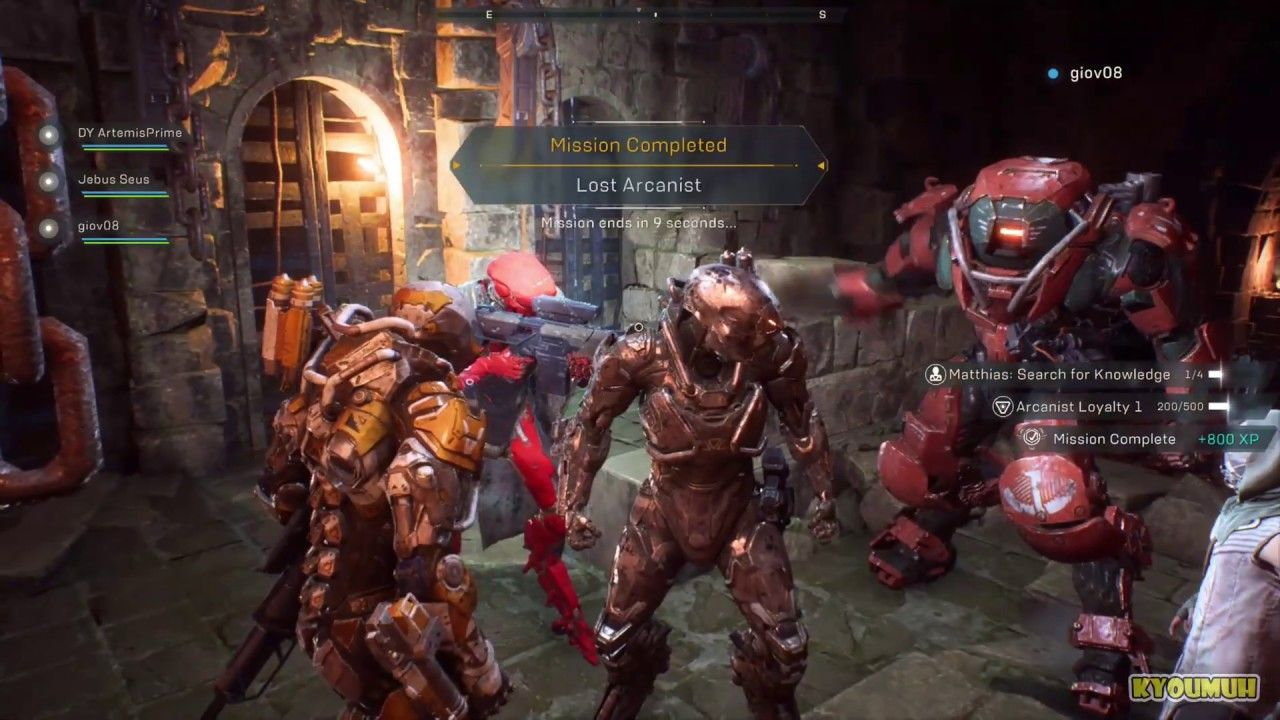 Anthem Lost Arcanist Gameplay Of The Lost Arcanist Mission On