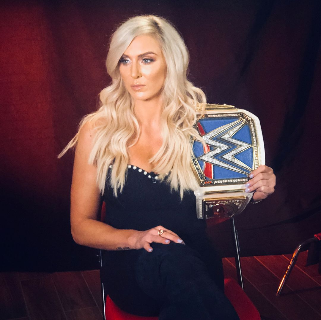 It's official, @charlottewwe will defend her #SDLive Women's