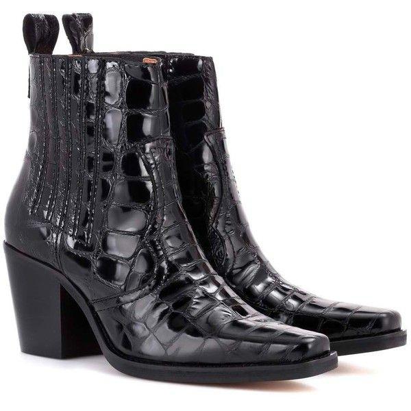 Western Leather Ankle BootPrada fR1YauG
