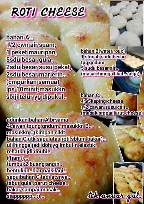 Roti Cheese Bread Recipes Homemade Recipes Malay Food