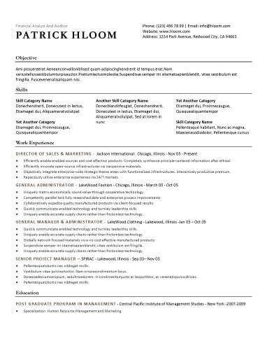 Economic - Free Resume Template by Hloom d Basic resume