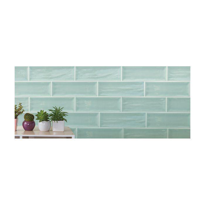Aria Bod 4 X 12 Ceramic Subway Tile In Aqua