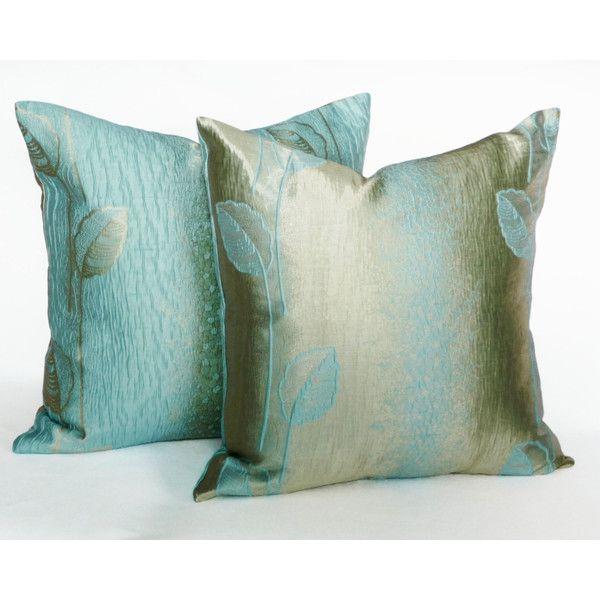 metallic pillow covers shimmering aqua