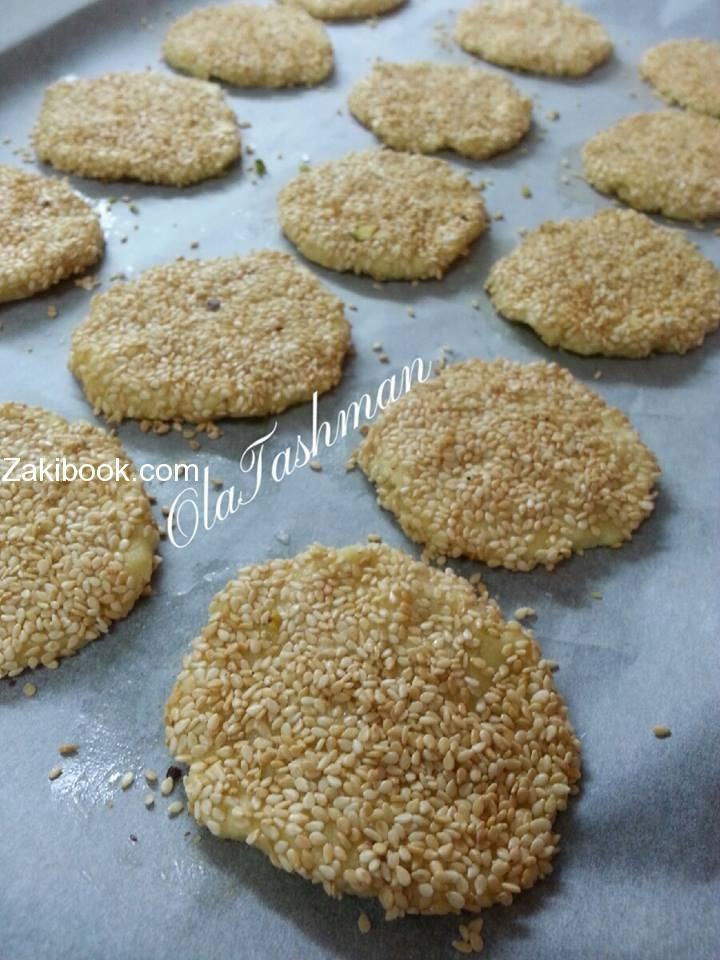 أنجح طريقة للبرازق الشامية على أصولها زاكي Sesame Cookies Food Desserts