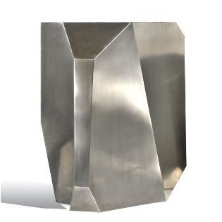 stainless hedge stone side table by sl