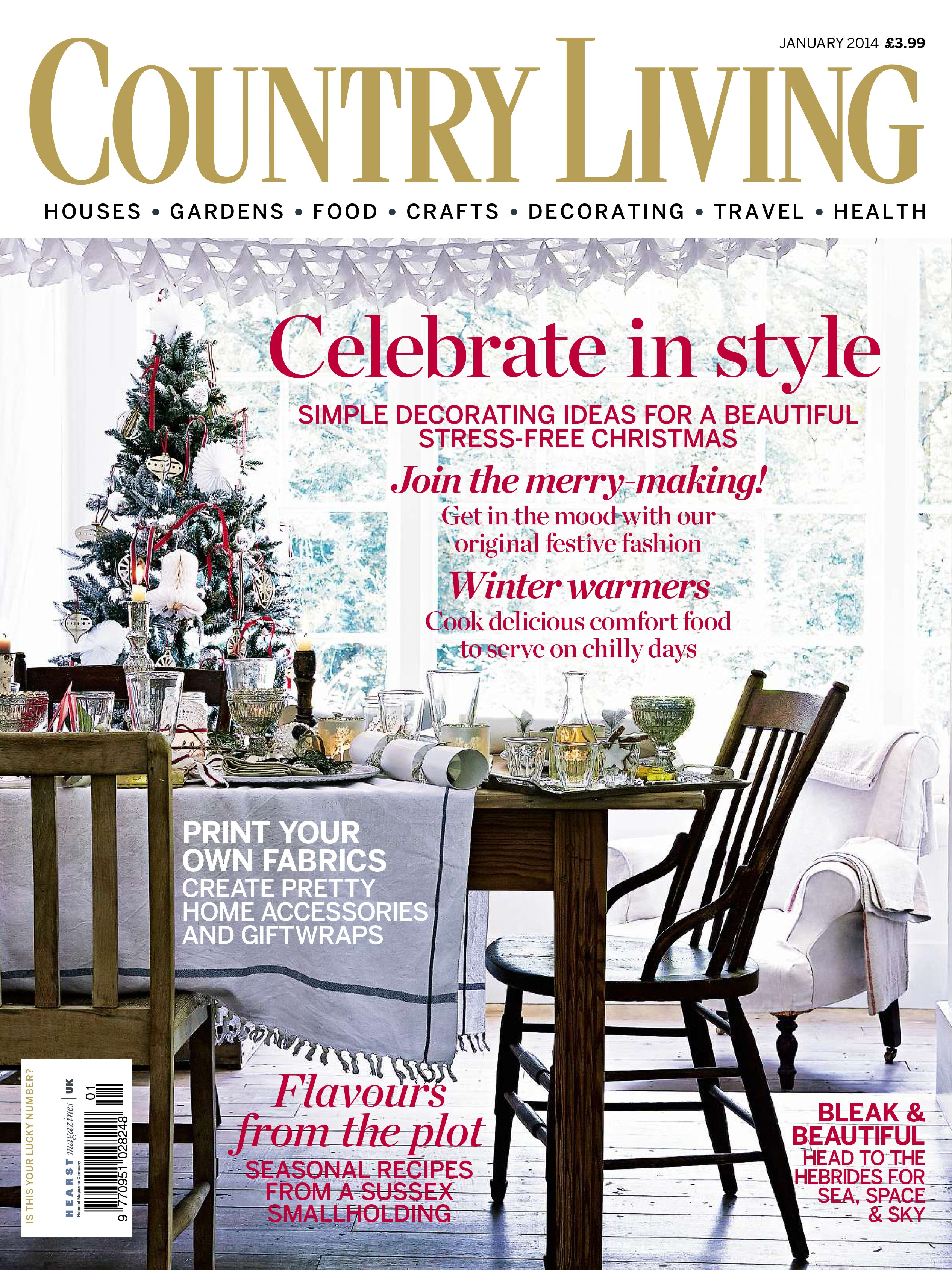 Country Living Magazine January 2014 Cover Countryliving Co Uk Country Living Uk Country Living Magazine Country Living