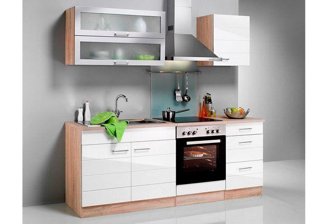Küchenzeile mit EGeräten »Emden, Breite 210 cm« Schrank