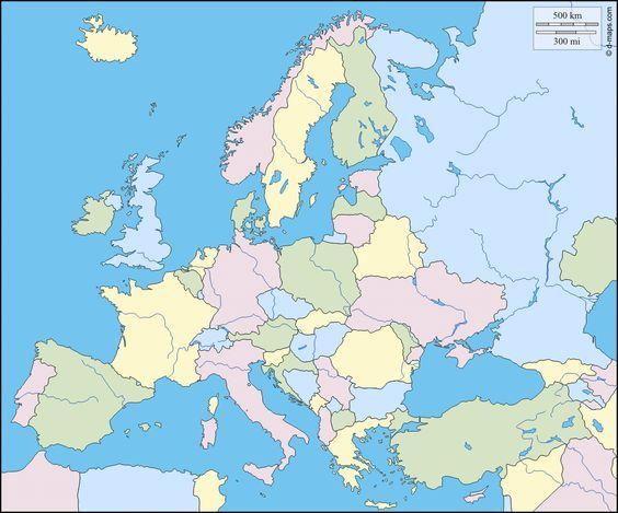 Karte Von Europa.Pin Auf Schule