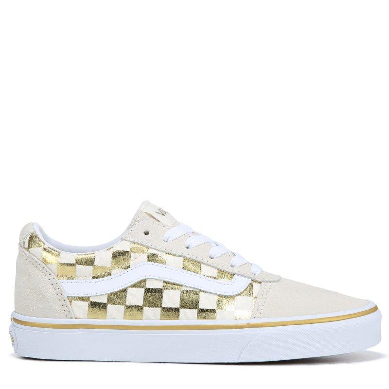 84c6b81bff Vans Women s Ward Low Top Sneakers (Checkerboard Gold)